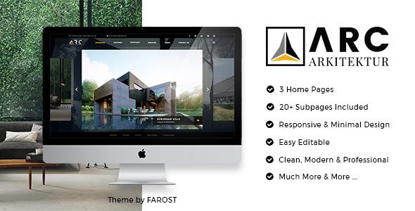 ARC Architecture Interior Design PSD Template by Farost ThemeForest