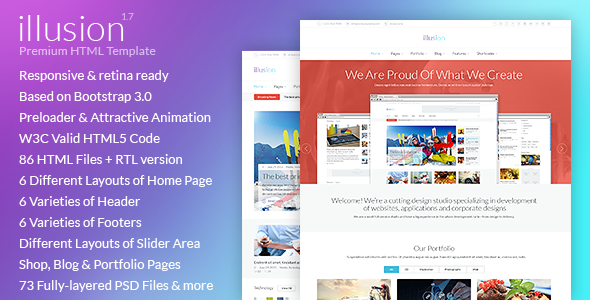 illusion - Premium Multipurpose HTML Template by Monkeysan | ThemeForest