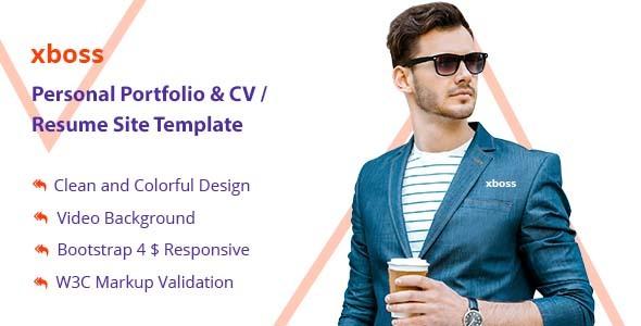 resume site template