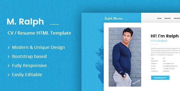 RaMarino Personal Portfolio / CV / Resume Template by DesignArc ...