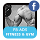Fitness and Gym Facebook Ad-Graphicriver中文最全的素材分享平台