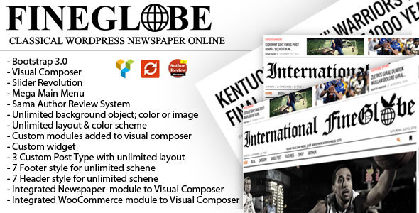 Fineglobe - Classic Newspaper Theme by RepublikWP | ThemeForest