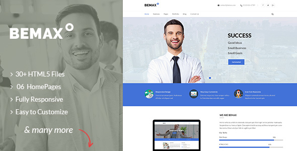 Bemax multipurpose corporate business html5 template by smilethemes bemax multipurpose corporate business html5 template business corporate flashek Choice Image