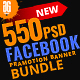 550 Facebook Banner Bundle -Graphicriver中文最全的素材分享平台