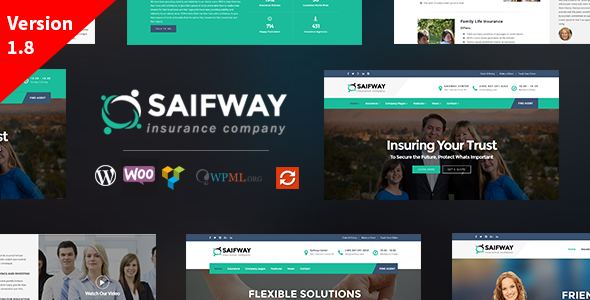 insurance website templates themeforest  Saifway - Insurance Agency WordPress Theme by trippleS | ThemeForest