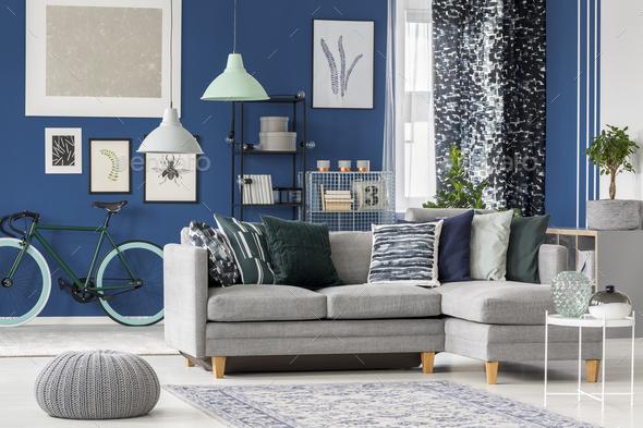 navy blue living room. Navy blue living room design  Stock Photo Images by bialasiewicz PhotoDune