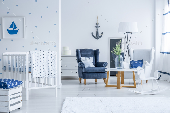 kid s room with marine decorations stock photo by bialasiewicz