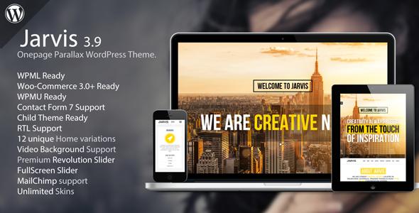 Jarvis - Onepage Parallax WordPress Theme by RockNRollaDesigns ...