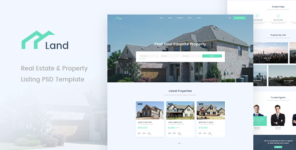 Land Real Estate Property Listing PSD Template By Psdehat - House listing template