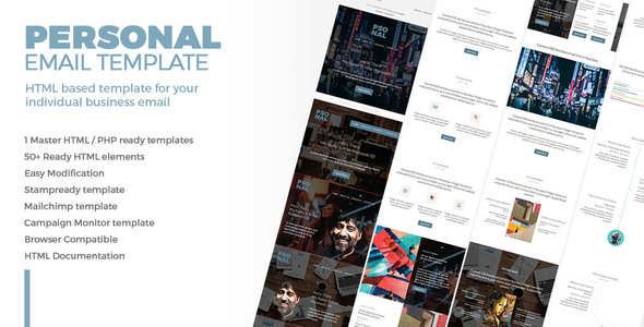 Personal Email Template For Personal CV By Bnrcreativelab - Campaign monitor html templates