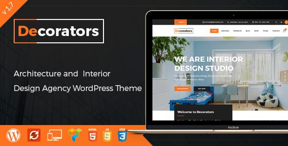 Decorators - WordPress Theme for Architecture & Modern Interior ...