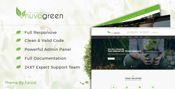 NuvaGreen - Landscape & Gardening WordPress Theme by Farost ... on