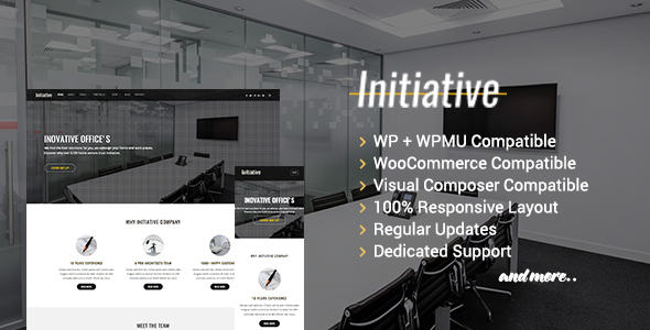 Initiative interior design & architect company wordpress theme by