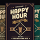 Classic Happy Hour Drinks Flyer-Graphicriver中文最全的素材分享平台