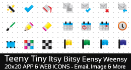 Several sets of full-color 20x20px application and web icons - web 2.0 style.