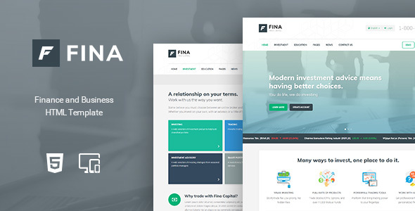 Fina - Finance and Business HTML Template by Indonez | ThemeForest