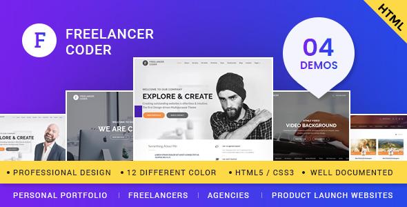 Freelancer coder one page responsive portfolio template by ajaniashish freelancer coder one page responsive portfolio template portfolio creative maxwellsz