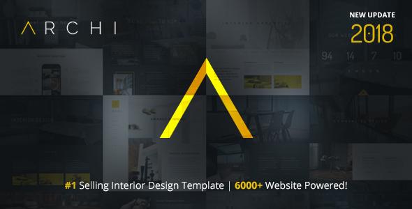 Archi Interior Design Website Template by designesia ThemeForest