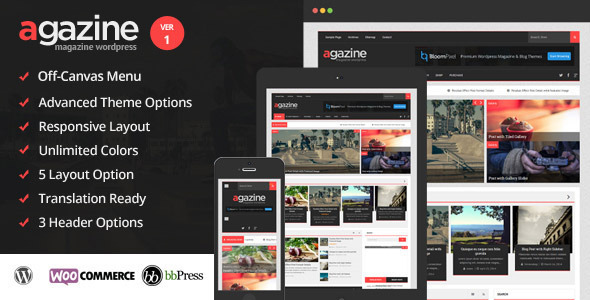 Agazine - Premium Retina Magazine WordPress Theme by BloomPixel ...