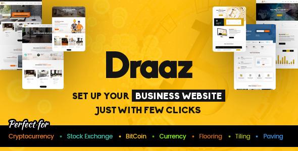 draaz cryptocurrency and flooring multipurpose business wordpress