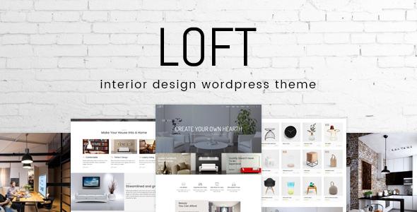 Loft Interior Design WordPress Theme by CreativeWS ThemeForest