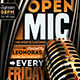 Open Mic Flyer Template-Graphicriver中文最全的素材分享平台