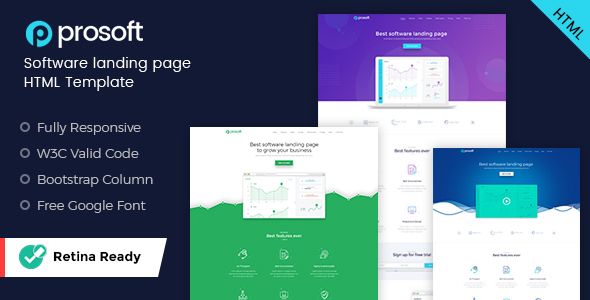 ProSoft Software Landing Page HTML Template By Kalanidhithemes - Landing page html template