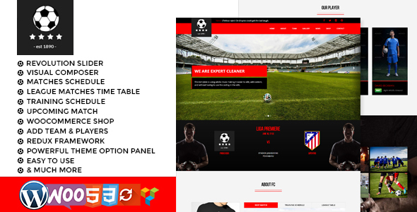 football club soccer WordPress Theme by thejkthemes | ThemeForest