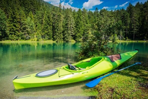 scenic kayak trip stock photo by duallogic photodune