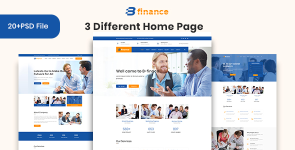 B Finance - Business and Finance PSD Template by themeHP | ThemeForest