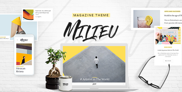Download Milieu - Art, Style and Culture Magazine WordPress Theme
