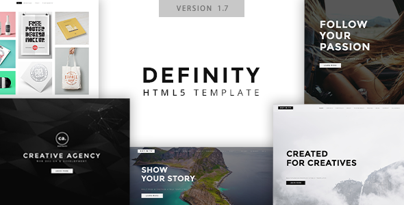 Definity - Multipurpose One/Multi Page Template by 89elements ...