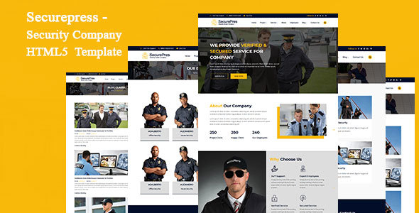 Securepress - Security Company HTML Responsive Template by ThemeEarth