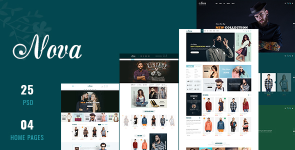 Download Nova - Fashion eCommerce PSD Template PSD Templates Theme