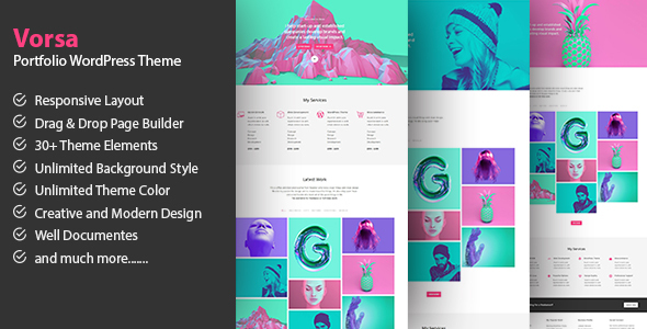 Download Vorsa - Portfolio & Agency WordPress Theme WordPress Theme