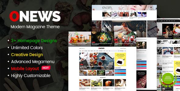 ONews   Modern Newspaper U0026 Magazine WordPress Theme (Mobile Layout  Included)   News /
