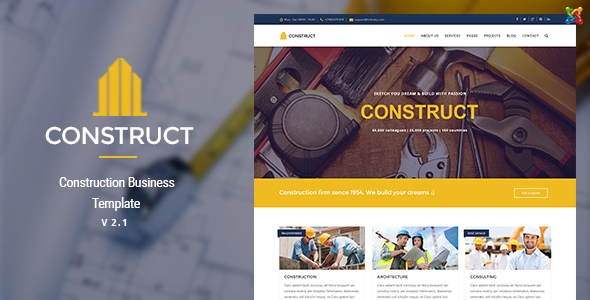 Construct joomla construction business template by themecanyon construct joomla construction business template business corporate accmission Image collections