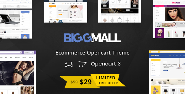 Download BiggMall - Multipurpose OpenCart 3 Theme eCommerce Theme