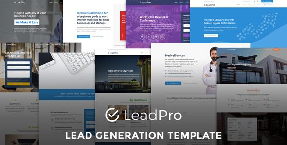 LeadPro Lead Generation Responsive Template By Affapress ThemeForest - Lead generation website template