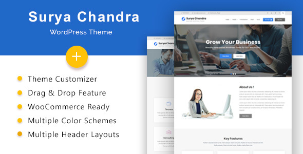 Surya Chandra - Responsive Multi-Purpose WordPress Theme - Business Corporate