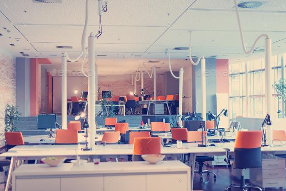 modern interior office stock. Big Bright Empty Modern Office - Stock Photo Images Interior