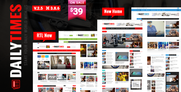 DailyTimes News and Magazine Joomla Template by trippleS ThemeForest