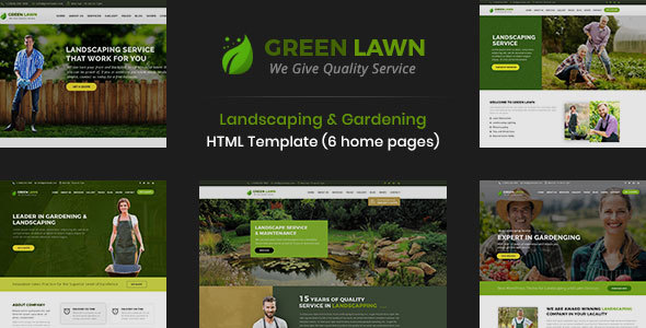 GreenLawn - Landscape And Gardening HTML Template by DesignArc ...