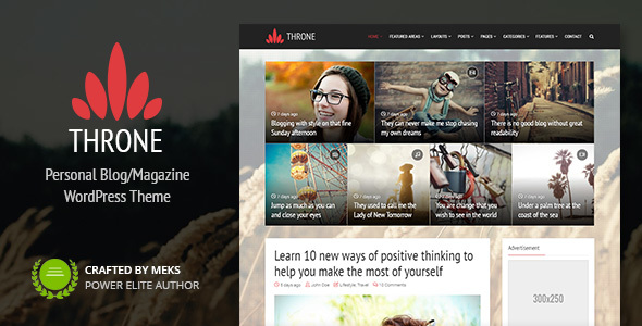 Throne - Personal Blog/Magazine WordPress Theme by meks | ThemeForest