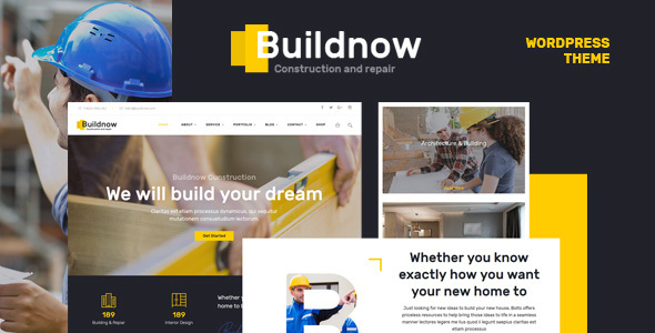 buildnow construction building wordpress theme by annabalashova