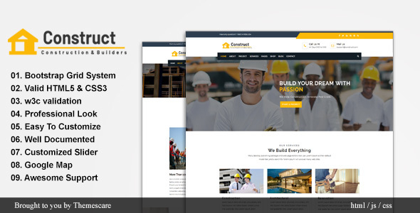 Construct - Construction and Building Website Template by Themescare