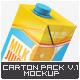 Milk or Juice Carton Mock-U-Graphicriver中文最全的素材分享平台