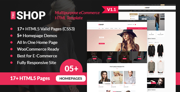 The Shop Multipurpose Ecommerce HTML Template By Webstrot - Html homepage template