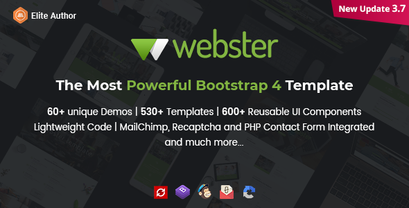Webster Responsive Multipurpose HTML Template By - Invoice html template bootstrap free download 99 cent store online