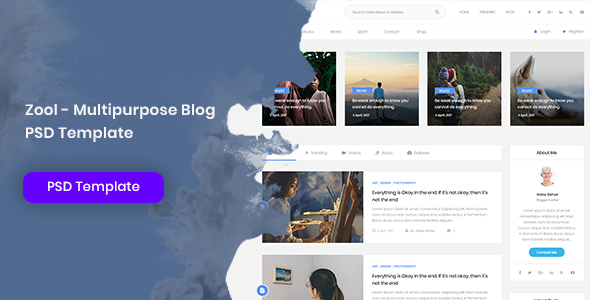 Zool - Multipurpose Blog PSD Template by Nile-Theme | ThemeForest
